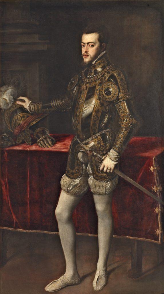 Tiziano. 1551. Óleo sobre lienzo, 193 x 111 cm. Museo del Prado